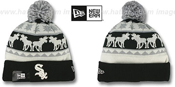 White Sox THE-MOOSER Knit Beanie Hat by New Era