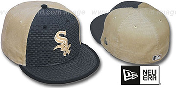 White Sox WEAVE-N-CORD Fitted Hat by New Era - black-tan