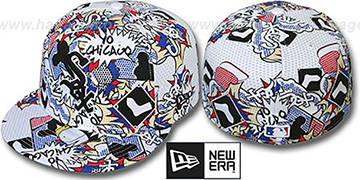 White Sox 'YO-CITY POP-UP' White-Multi Fitted Hat by New Era
