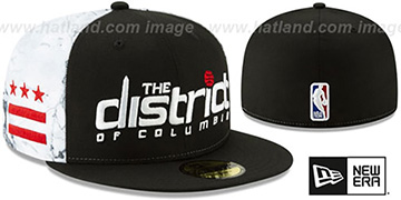 Wizards '18-19 CITY-SERIES' Black-White Fitted Hat by New Era