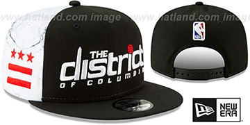 Wizards '18-19 CITY-SERIES SNAPBACK' Black-White Hat by New Era