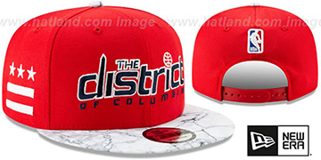 Wizards '18-19 CITY-SERIES SNAPBACK' Red-White Hat by New Era