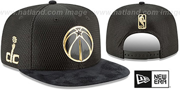 Wizards '2017 NBA ONCOURT SNAPBACK' Black-Gold Hat by New Era