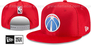 Wizards 2017 NBA ONCOURT SNAPBACK Red Hat by New Era
