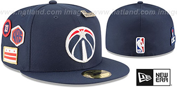 Wizards 2018 NBA DRAFT Navy Fitted Hat by New Era