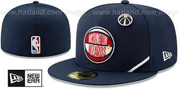 Wizards 2019 NBA DRAFT Navy Fitted Hat by New Era