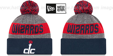 Wizards 'ARENA SPORT' Navy-Red Knit Beanie Hat by New Era