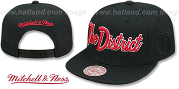 Wizards CITY NICKNAME SCRIPT SNAPBACK Black Hat by Mitchell and Ness