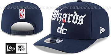 Wizards 'CLASSIC-CURVE SNAPBACK' Navy Hat by New Era