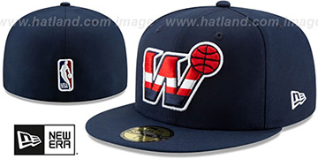 Wizards DECEPTORED Navy Fitted Hat by New Era