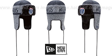 Wizards 'FROSTWORK TRAPPER' Navy Knit Hat by New Era