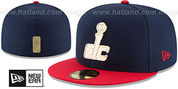 Wizards GOLDEN-BADGE Navy-Red Fitted Hat by New Era