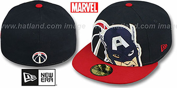 Wizards 'HERO-HCL' Navy-Red Fitted Hat by New Era