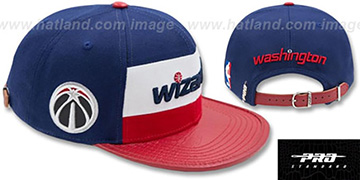 Wizards 'HORIZON STRAPBACK' Navy-Red Hat by Pro Standard