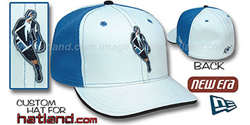 Wizards 'INSIDER PINWHEEL' White-Blue Fitted Hat by New Era