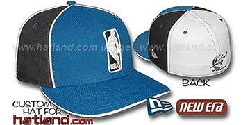 Wizards 'LOGOMAN-2' Blue-Black-White Fitted Hat by New Era