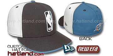 Wizards LOGOMAN Black-White-Blue Fitted Hat by New Era