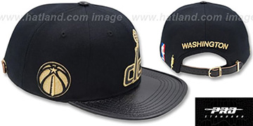 Wizards 'METALLIC POP STRAPBACK' Black Hat by Pro Standard
