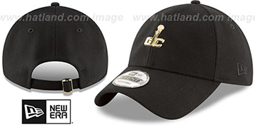 Wizards MINI GOLD METAL-BADGE STRAPBACK Black Hat by New Era