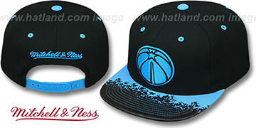 Wizards 'NEON-LAVA SNAPBACK' Black-Blue Hat by Mitchell and Ness