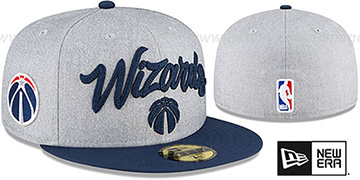 Wizards ROPE STITCH DRAFT Grey-Navy Fitted Hat by New Era