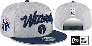 Wizards 'ROPE STITCH DRAFT SNAPBACK' Grey-Navy Hat by New Era