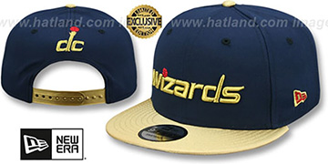 Wizards 'SWINGMAN SNAPBACK' Navy-Gold Hat by New Era