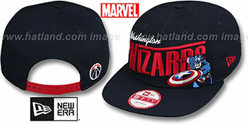 Wizards TEAM-HERO SNAPBACK Navy Hat by New Era