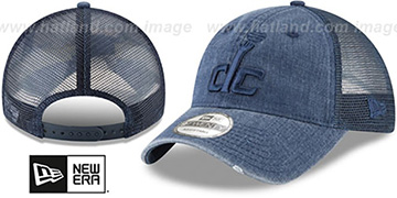 Wizards 'TONAL-WASHED TRUCKER SNAPBACK' Navy Hat by New Era