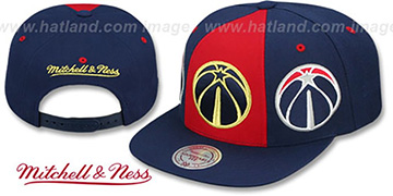 Wizards 'TRIPLE STACK SNAPBACK' Red-Navy Hat by Mitchell and Ness