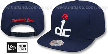 Wizards 'XL-LOGO SNAPBACK' Navy Hat by Mitchell and Ness