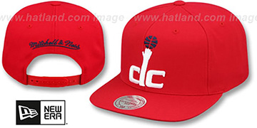 Wizards XL-LOGO SNAPBACK Red Hat by Mitchell and Ness