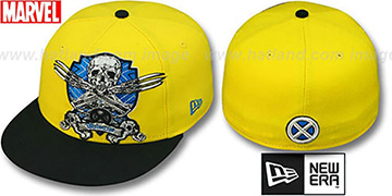 Wolverine 'DEATHCREST' Gold-Black Fitted Hat by New Era