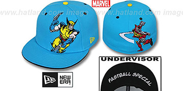 Wolverine 'FASTBALL SPECIAL' Blue Fitted Hat by New Era