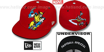 Wolverine 'FASTBALL SPECIAL' Red Fitted Hat by New Era