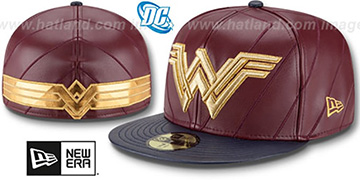 Wonder woman 'CHARACTER ARMOR' Fitted Hat by New Era