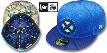X-Men 'FURRY BEAST' Blue Fitted Hat by New Era