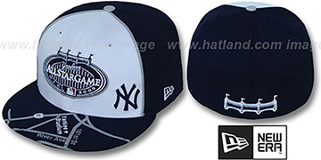 Yankees '2008 ALL STAR GPS' White-Navy Fitted Hat by New Era