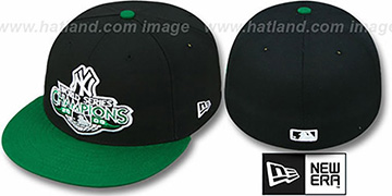 Yankees 2009 'CHAMPIONS CREST' Black-Green Hat by New Era