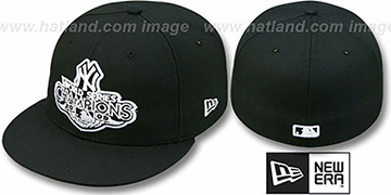 Yankees 2009 CHAMPIONS CREST Black Hat by New Era