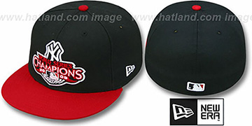 Yankees 2009 'CHAMPIONS CREST' Black-Red Hat by New Era
