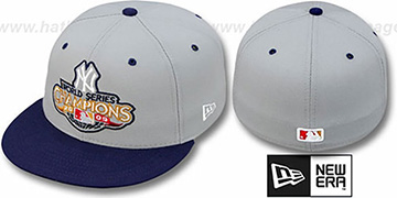 Yankees 2009 CHAMPIONS CREST Grey-Navy Hat by New Era