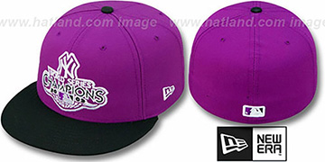 Yankees 2009 'CHAMPIONS CREST' Purple-Black Hat by New Era