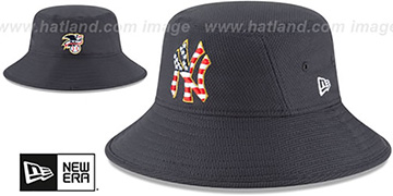 Yankees 2018 JULY 4TH STARS N STRIPES BUCKET Navy Hat by New Era