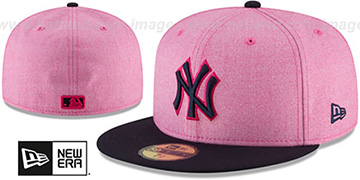 Yankees '2018 MOTHERS DAY' Pink-Navy Fitted Hat by New Era