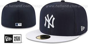 Yankees 2018 PROLIGHT-BP Navy-White Fitted Hat by New Era