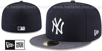 Yankees 2018 PROLIGHT-BP ROAD Navy-Grey Fitted Hat by New Era