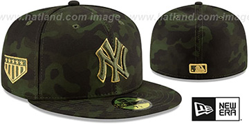 Yankees 2019 ARMED FORCES STARS N STRIPES Hat by New Era