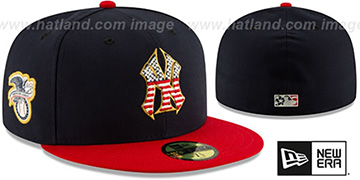 Yankees 2019 JULY 4TH STARS N STRIPES Fitted Hat by New Era