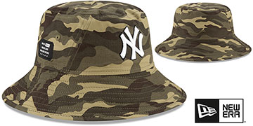 Yankees 2021 ARMED FORCES STARS N STRIPES BUCKET Hat by New Era